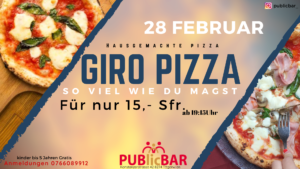 GIRO PIZZA PARTY @ PUBlicBAR